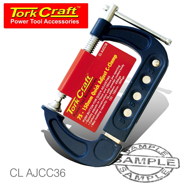 ADJUSTABLE C CLAMP 75MM - 150MM QUICK - Power Tool Traders