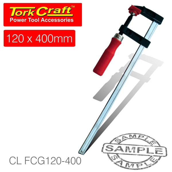 CLAMP GERMAN F-TYPE 120 X 400MM - Power Tool Traders
