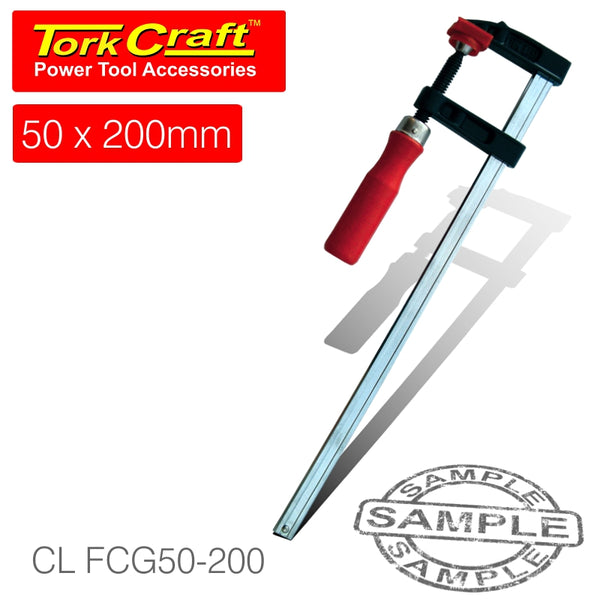 CLAMP GERMAN F-TYPE 50 X 200MM - Power Tool Traders
