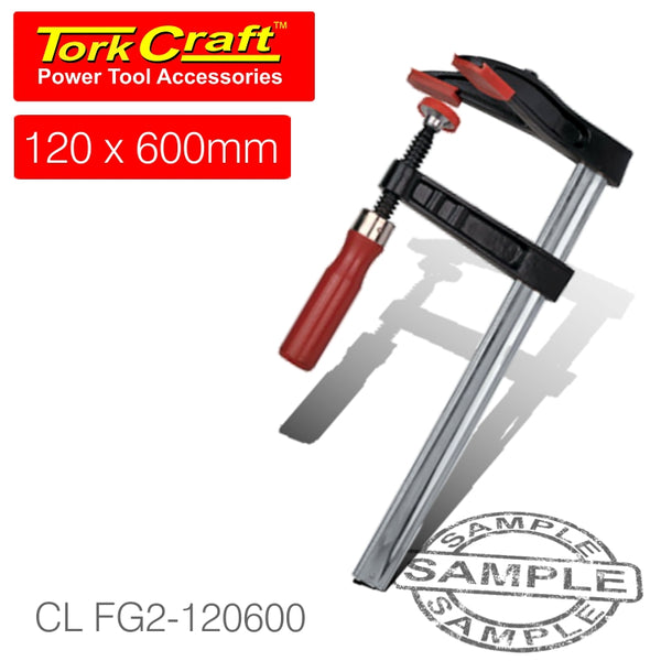 DOUBLE JAW F - CLAMP 120 X 600MM - Power Tool Traders