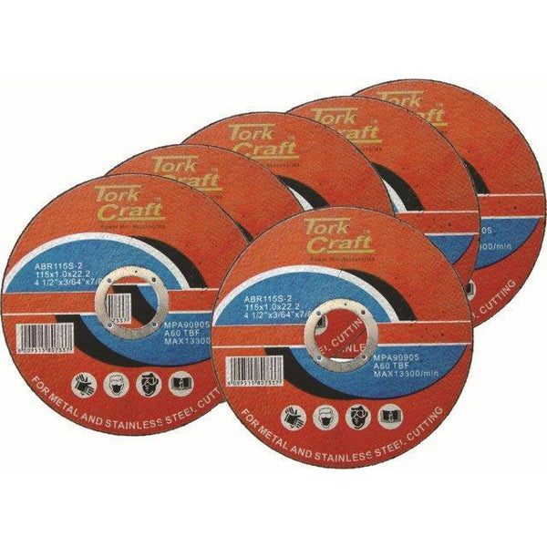 5 + 1 FREE CUTTING DISC STEEL 115 x 1.0 x 22.2MM - Power Tool Traders