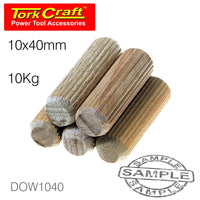 DOWELS 10 X 40MM 10KG BAG - Power Tool Traders