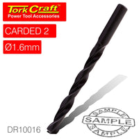DRILL BIT HSS STANDARD 1.6MM 2/CARD - Power Tool Traders