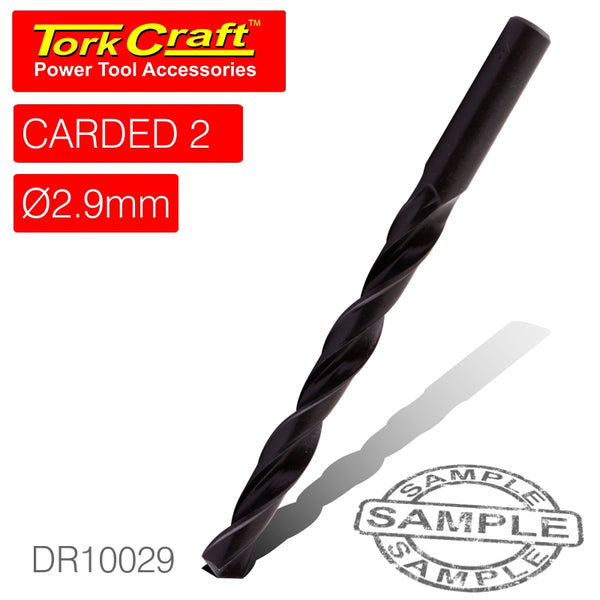 DRILL BIT HSS STANDARD 2.9MM 2/CARD - Power Tool Traders