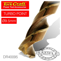 DRILL BIT HSS TURBO POINT 9.5MM 1/CARD - Power Tool Traders