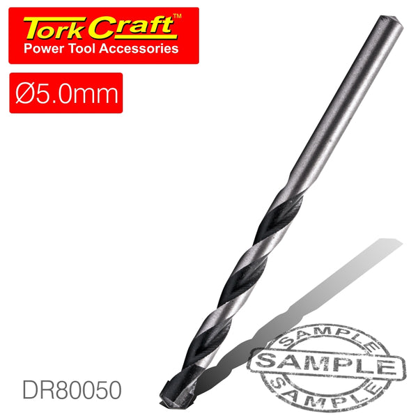 DRILL BIT MASONRY/CONCRETE  5.0MM 1/CARD - Power Tool Traders