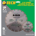 DIAMOND BLADE 230MMX22.22MM+115MMX22.2MM SEGEMENTED - Power Tool Traders