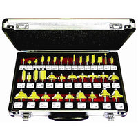 ROUTER BIT SET 35PC ALUMINIUM CASE 1/4 SHANK - Power Tool Traders