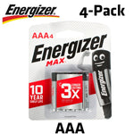 ENERGIZER MAX AAA - 4 PACK (MOQ 12) - Power Tool Traders
