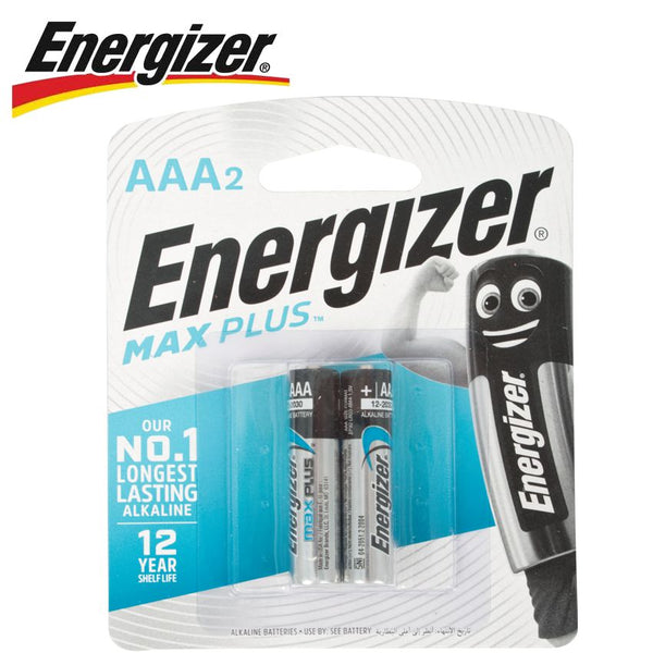 ENERGIZER MAXPLUS AAA - 2 PACK (MOQ12) - Power Tool Traders
