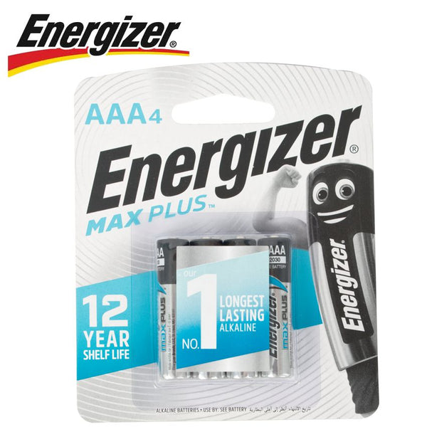 ENERGIZER MAXPLUS AAA - 4 PACK (MOQ12) - Power Tool Traders