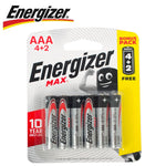 ENERGIZER MAX AAA - 6PACK 4+2 FREE - Power Tool Traders