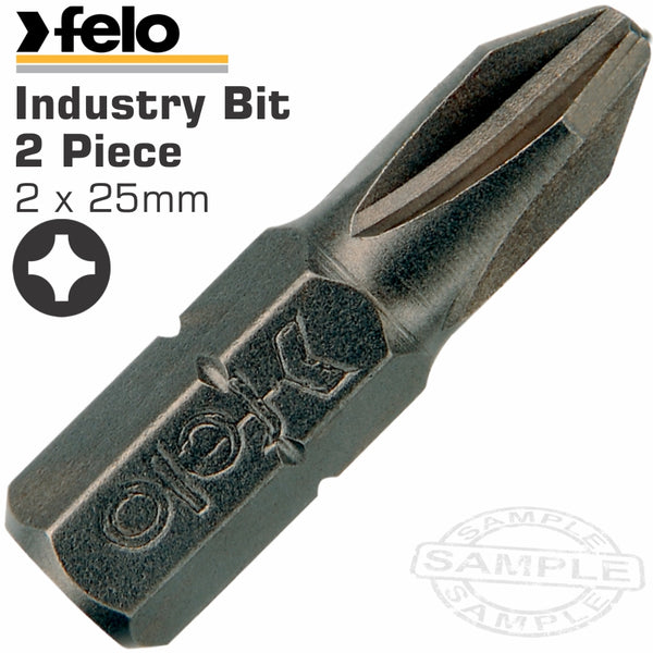 FELO PHILLIPS PH2 X 25MM 2PC INS.BIT - Power Tool Traders