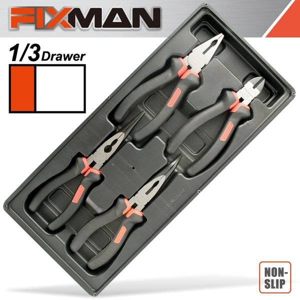 FIXMAN  4 PIECE PLIER SET CP 7' DCP 6' LNP 8' BNP 8' - Power Tool Traders