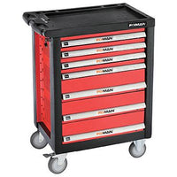 FIXMAN EMPTY 7 DRAWER ROLLER CABINET ON CASTORS 958MM X 766MM X 465MM - Power Tool Traders
