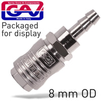 QUICK COUPLER/8MM HOSE PACKAGED - Power Tool Traders