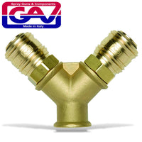 QUICK COUPLER BRASS TWO WAY 3-8F - Power Tool Traders