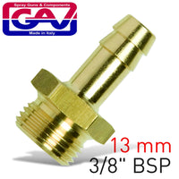 HOSE TAIL BRASS 3-8 MX13MM - Power Tool Traders