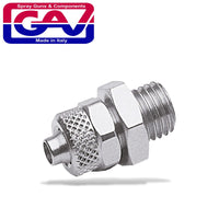 GAV STRAIGHT CONICAL 1/4 M PUSH IN FITTING FOR 6MM HOSE - Power Tool Traders