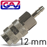 UNIVERSAL QUICK COUPLER W/12MM HOSE TAIL - Power Tool Traders