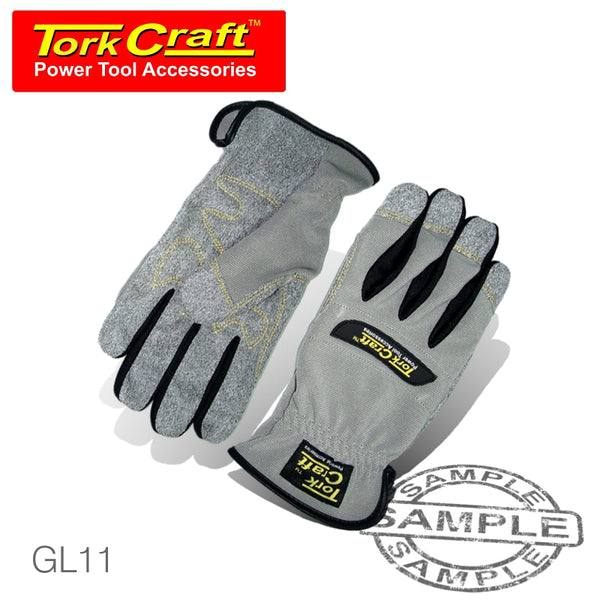 MECHANICS GLOVE MEDIUM SYNTHETIC LEATHER PALM SPANDEX BACK - Power Tool Traders