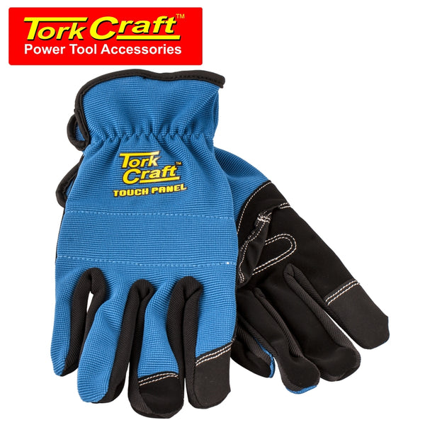 GLOVE BLUE WITH PU PALM SIZE SMALL MULTI PURPOSE - Power Tool Traders