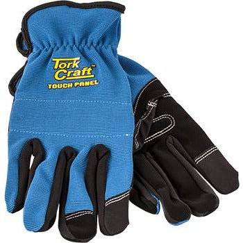 GLOVE BLUE WITH PU PALM SIZE MEDIUM MULTI PURPOSE - Power Tool Traders