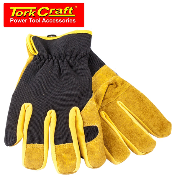 GLOVE LEATHER PALM  SMALL - Power Tool Traders