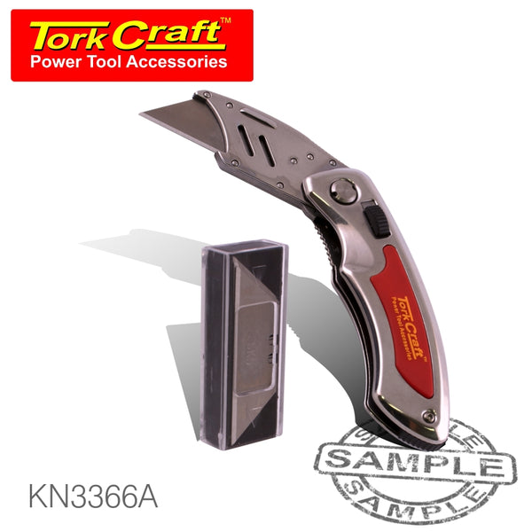 KNIFE UTILITY RED WITH 5 SPARE BLADES IN BLISTER #3366A - Power Tool Traders