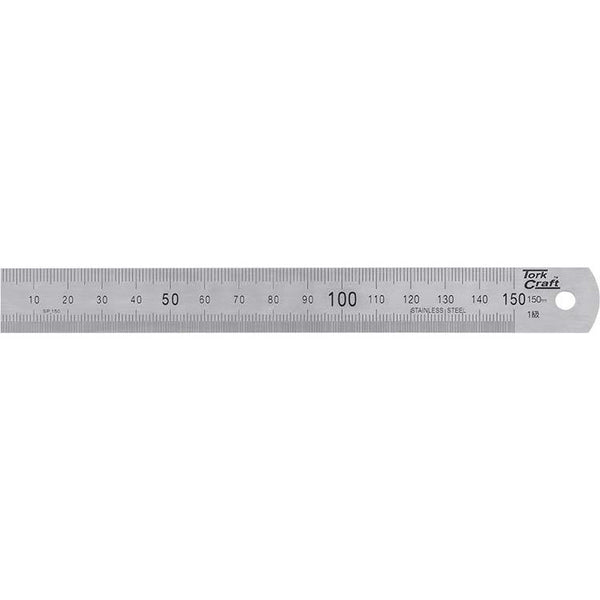 STAINLESS STEEL RULER 150 X 19 X 0.8MM - Power Tool Traders
