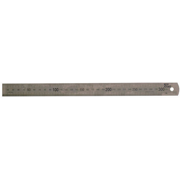 STAINLESS STEEL RULER 300 X 25 X 1.0MM - Power Tool Traders