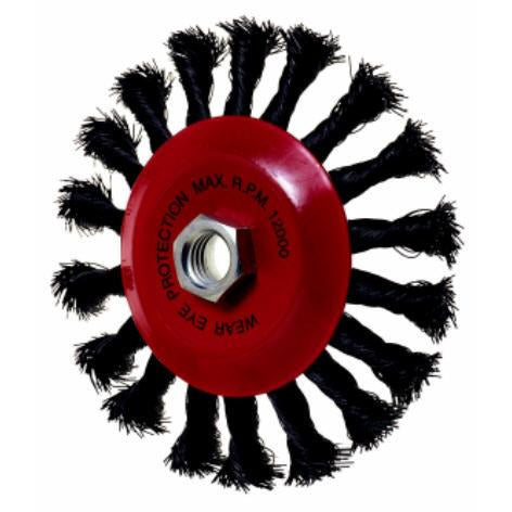 TW.WIRE CON. WHEEL BRUSH 100MM - Power Tool Traders
