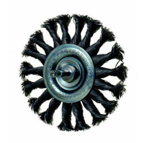 TWISTED WIRE WHEEL BRUSH 75MM - Power Tool Traders