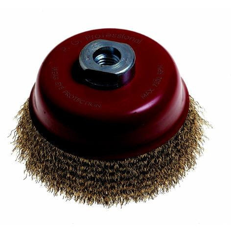 WIRE CUP BRUSH 100MM X 14M - Power Tool Traders