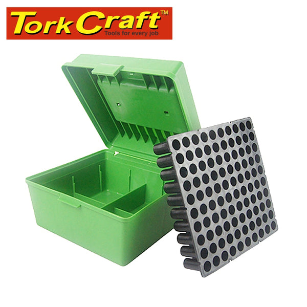 HARD CASE AMMO BOX 170X170X115MM RIFLE 100 ROUNDS (TB904) - Power Tool Traders