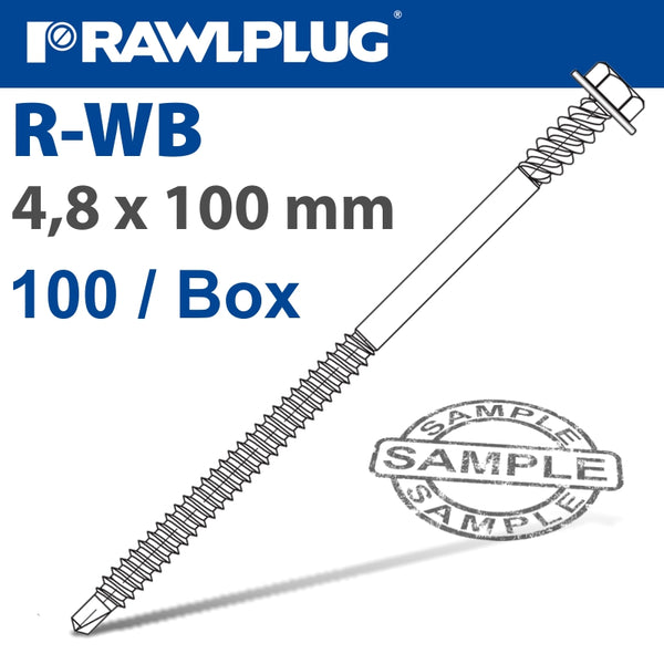 WB SELF-DRILLING SCREW FOR STEEL WITH DOUBLE THREAD BOX OF 100 - Power Tool Traders
