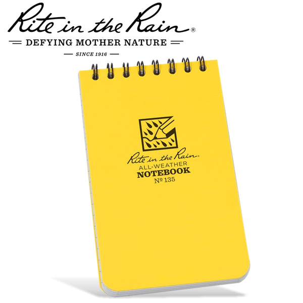 RITE IN THE RAIN 3'X5' NOTEBOOK YELLOW - Power Tool Traders