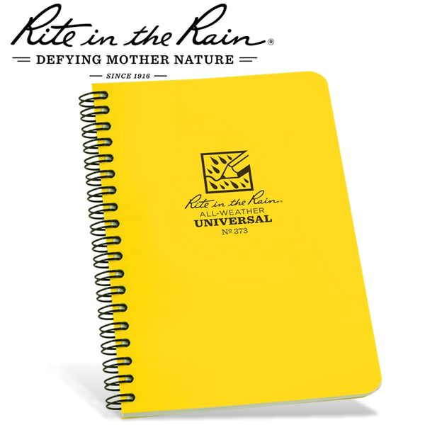 RITE IN THE RAIN SIDE SPIRAL NOTEBOOK YELLOW - Power Tool Traders