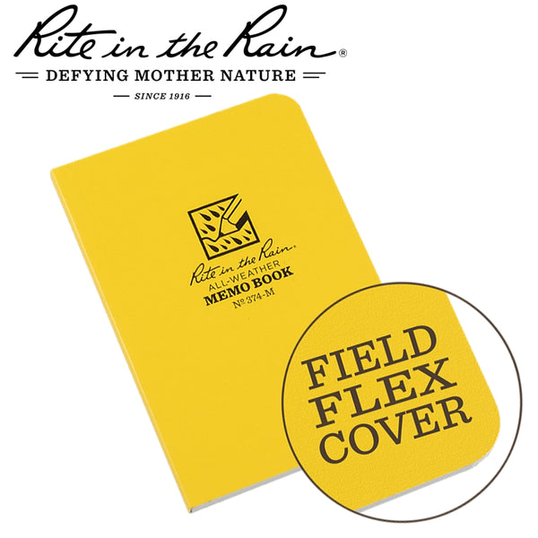 RITE IN THE RAIN FIELD FLEX POCKET MEMO BOOK YELLOW - Power Tool Traders