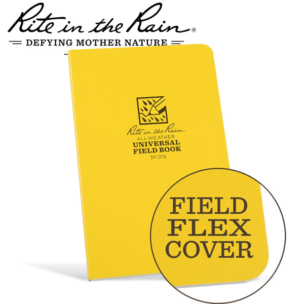 RITE IN THE RAIN FIELD FLEX BOUND BOOK YELLOW - Power Tool Traders
