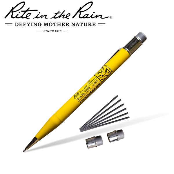 RITE IN THE RAIN MECHANICAL PENCIL YELLOW WITH BLACK LEAD - Power Tool Traders