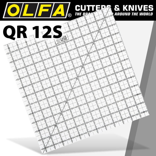 QUILT RULER IMPERIAL 12IN X 12IN - Power Tool Traders