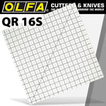 QUILT RULER 16' X 16' SQUARE WITH GRID - Power Tool Traders
