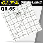 QUILT RULER 6' X 6' SQUARE WITH GRID - Power Tool Traders