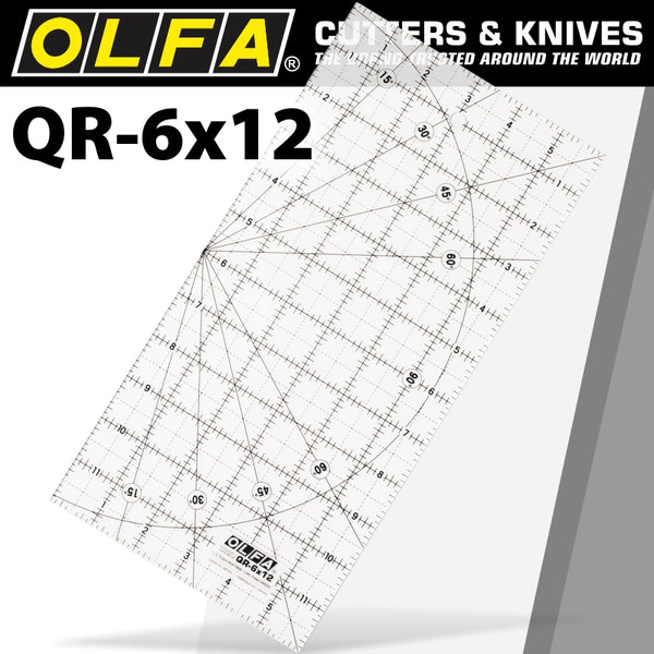 QUILT RULER IMPERIAL 6IN X 12IN - Power Tool Traders