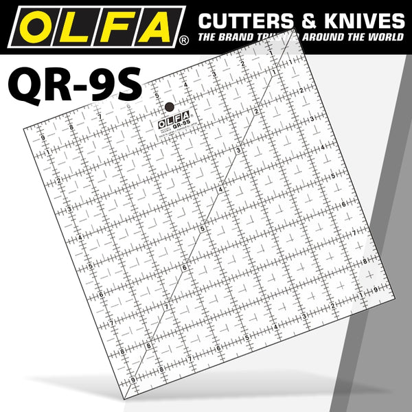 QUILT RULER 9' X 9' SQUARE WITH GRID - Power Tool Traders