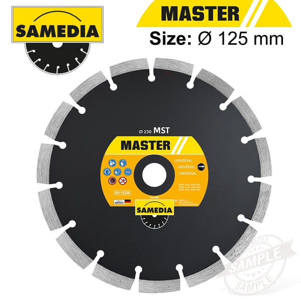 DIAMOND BLADE 125MM X 22.23 SEGMENTED IND MULTI PURPOSE MASTER MST - Power Tool Traders