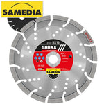 DIAMOND BLADE 230MM SEGMENTED IND REINF. CONCRETE LONG LIFE SHOXX BX13 - Power Tool Traders