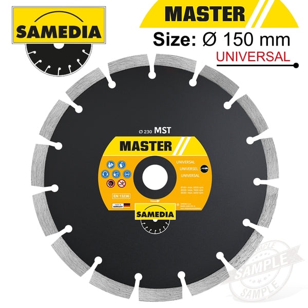 DIAMOND BLADE 150MM X 22.23 SEGMENTED IND MULTI PURPOSE MASTER MST - Power Tool Traders