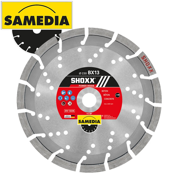 DIAMOND BLADE 115MM SEGMENTED IND REINF. CONCRETE LONG LIFE SHOXX BX13 - Power Tool Traders